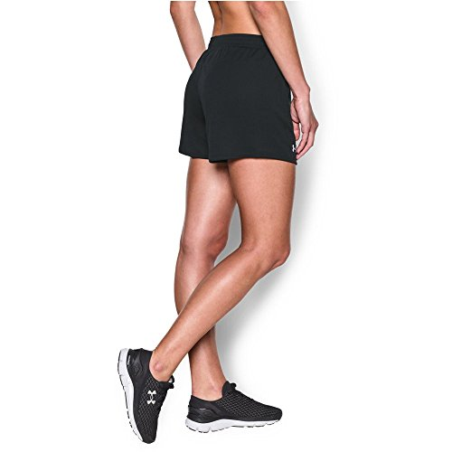 (Under Armour Women's Challenger Knit Short, Black (001)/White, Large)