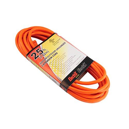 Electrix 16/3 AWG Gauge SJTW 25 Ft Medium Duty Indoor/Outdoor Extension Cord UL by Electrix