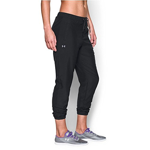 Under Armour Women's Easy Perf Pant, Black/Gray Area, Small