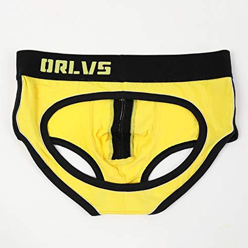 Slip Shorts Lettre Sexy Bulge Ihengh men Hommes Jaune Caleçon Imprimée Sous Homme Pouch vêtements Underwear Panties Briefs Boxer qfwUZwnxg