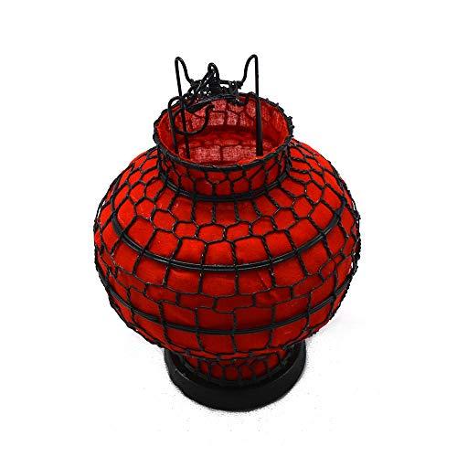 SEADOSHOPPING Vintage Cloth Metal Chinese Red Silk Lanterns
