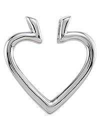 Bonyak Jewelry Platinum 19.5x18.25 mm Heart Pendant Enhancer