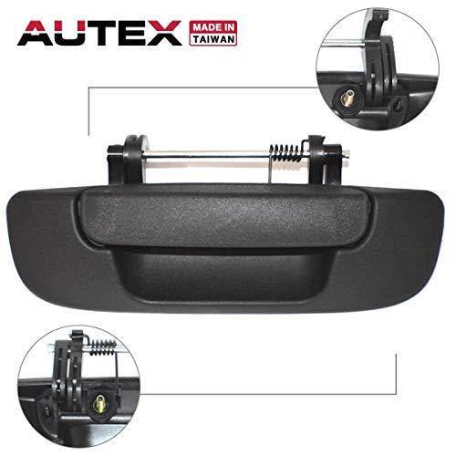 AUTEX Tailgate Handle Liftgate Door Handle Compatible with Dodge Ram 2500 3500 2003-2009 Replacement for Dodge Ram 1500 04-08, 80165, 55276237AA