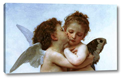 The First Kiss Detail by William Bouguereau - 13