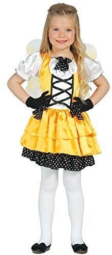 Girls Yellow Butterfly + Wings Fairy Animal Mini Beast Halloween Fancy Dress Costume 1-9 Years (5-6 -