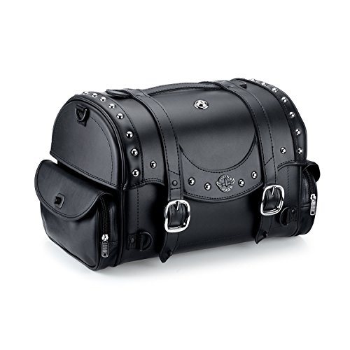 Viking Century Studded Leather Motorcycle Sissy Bar Bag (Motorcycle Bags Sissy Bar compare prices)