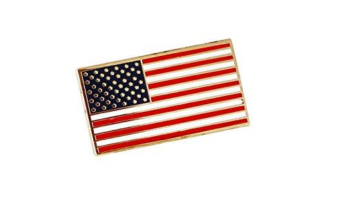 American Flag USA Patriotic Enamel Diestruck Lapel Pin Gold Tone Metal Value Pack 13 Stripes 50 Stars
