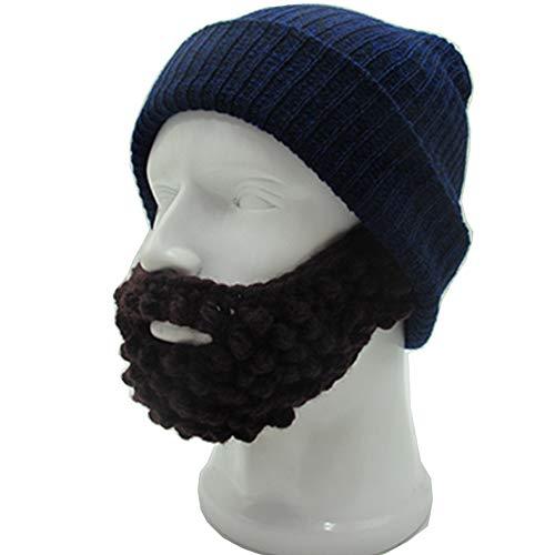 1c902561af2 YEKEYI Unisex Wacky Beard Hat Knit Funny Beanie Halloween Cap Wind Mask