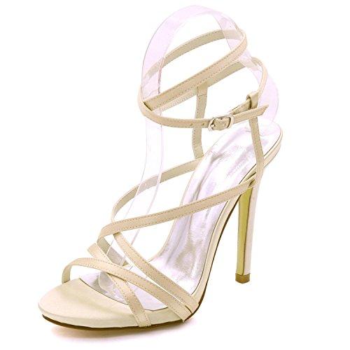 Elegant high shoes Plataforma Abierta de La Boda de Las Mujeres del Alto Talón 7216-02 Sandalias Vestido de Fiesta Zapatos de La Corte Tamaños 3-8 Champagne