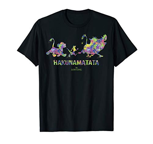 Disney The Lion King Hakuna Matata Paint Splatter Silhouette T-Shirt