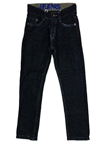 Thermojeans Jungen Thermohose Innenfutter Schneehose gefütterte Jeans schwarz / blau von Grösse 98 bis 158