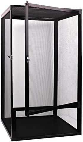 AIICIOO - Jaula de Pantalla para Reptiles al Aire Libre – Terrario de Reptiles de Aluminio, tamaño Grande de 17,7 x 17,7 x 31,5 Pulgadas: Amazon.es: Productos para mascotas