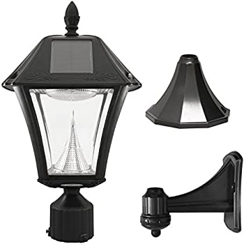 Large Solar Lights Outdoor Amazon kendal large outdoor solar powered led wall light lamp gama sonic baytown ii solar outdoor lamp with bright white leds polepierwall mount kit black finish workwithnaturefo