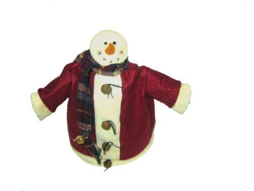 Papier Mache Bell (Craft Outlet Snowman Figurine, 11-Inch)
