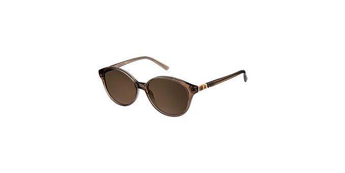 d3af9c2903 Pierre Cardin Women's P.C. 8443/S 8E BKC 54 Sunglasses, Transp Brown ...