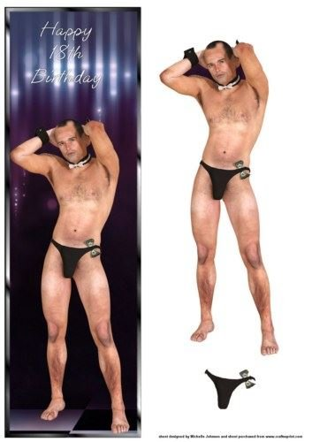 Male Stripper 18th Birthday Large Dl Card By Michelle Johnson