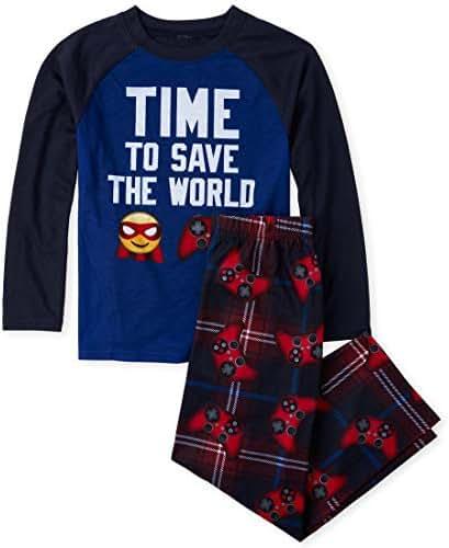 The Children's Place Big Boys Long Sleeve Printed Pajama Set