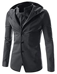 Men's 2 Button Chinese Collar Jacket