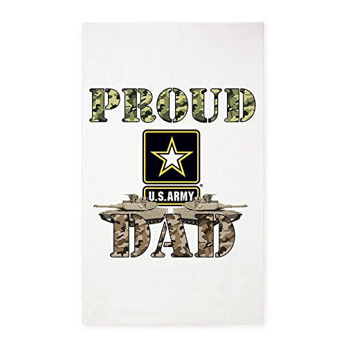 CafePress - Proud USA ARMY Dad - Decorative Area Rug, Fabric Throw Rug by CafePress