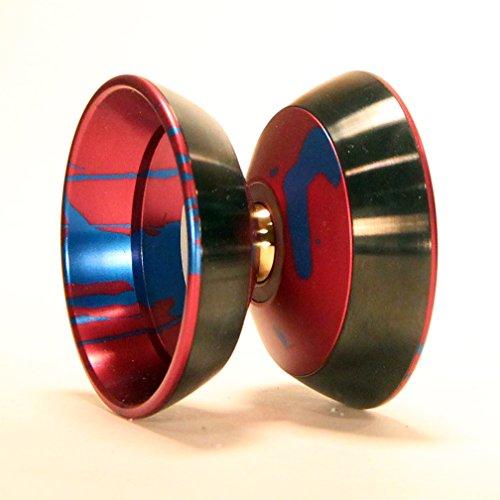 Magic YoYo and SpinGear Katana M06 Bi Metal Yo-Yo (Red with Blue)