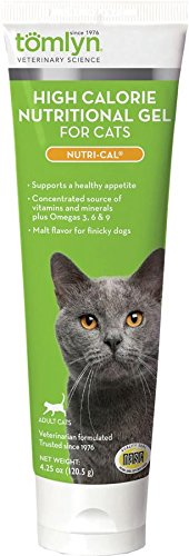 Tomlyn High Calorie Nutritional Gel for Cats, (Nutri-Cal) 4.25 oz (Cal Supplement Pet)