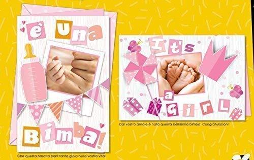 Subito disponibile Tarjeta Felicitación NACIMIENTO collage NIÑA ...