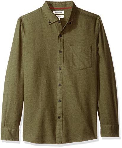 im-Fit Long-Sleeve Brushed Heather Shirt, Olive, Medium ()