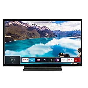 Toshiba 32WL3A63DB 32-Inch HD Ready Smart TV with Freeview Play – Black/Silver (2019 Model)