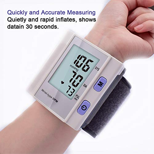 sphygmomanometer,Wrist blood pressure aneroid sphygmomanometer adult, monitor accurate automatic blood pressure monitoring kit for home use,sphygmomanometer and stethoscope kit,christmas presents