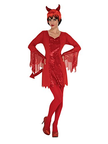 Rubie's Costume 821064-L Co Women's Devil, Red, Large ()