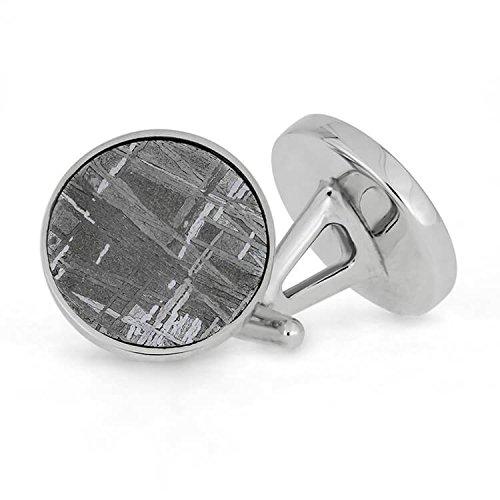 Meteorite Cufflinks In Sterling Silver