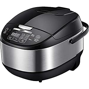 COMFEE' 5.2Qt Asian Style Programmable All-in-1 Multi Cooker, Rice Cooker, Slow Cooker, Steamer, Saute, Yogurt Maker… 10