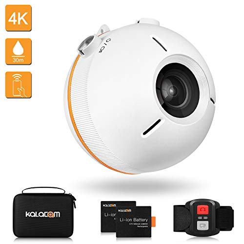 KALACAM Action Camera 4K Waterproof Floating Sports Camcorder WiFi Video cam Underwater 98ft 16MP EIS Wide Angle Lens 155 Degree with Remote Controller,White KALACAM