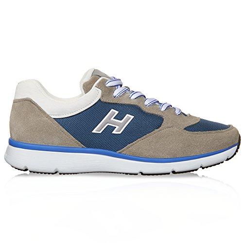 HOGAN HOMME HXM2540S421BZF512N BEIGE/BLEU TISSU BASKETS