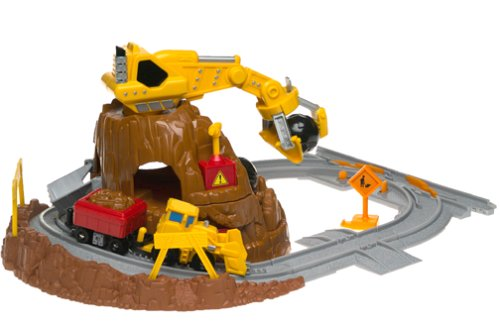 (Fisher-Price GeoTrax Rail & Road System - Mt. Blast Construction)