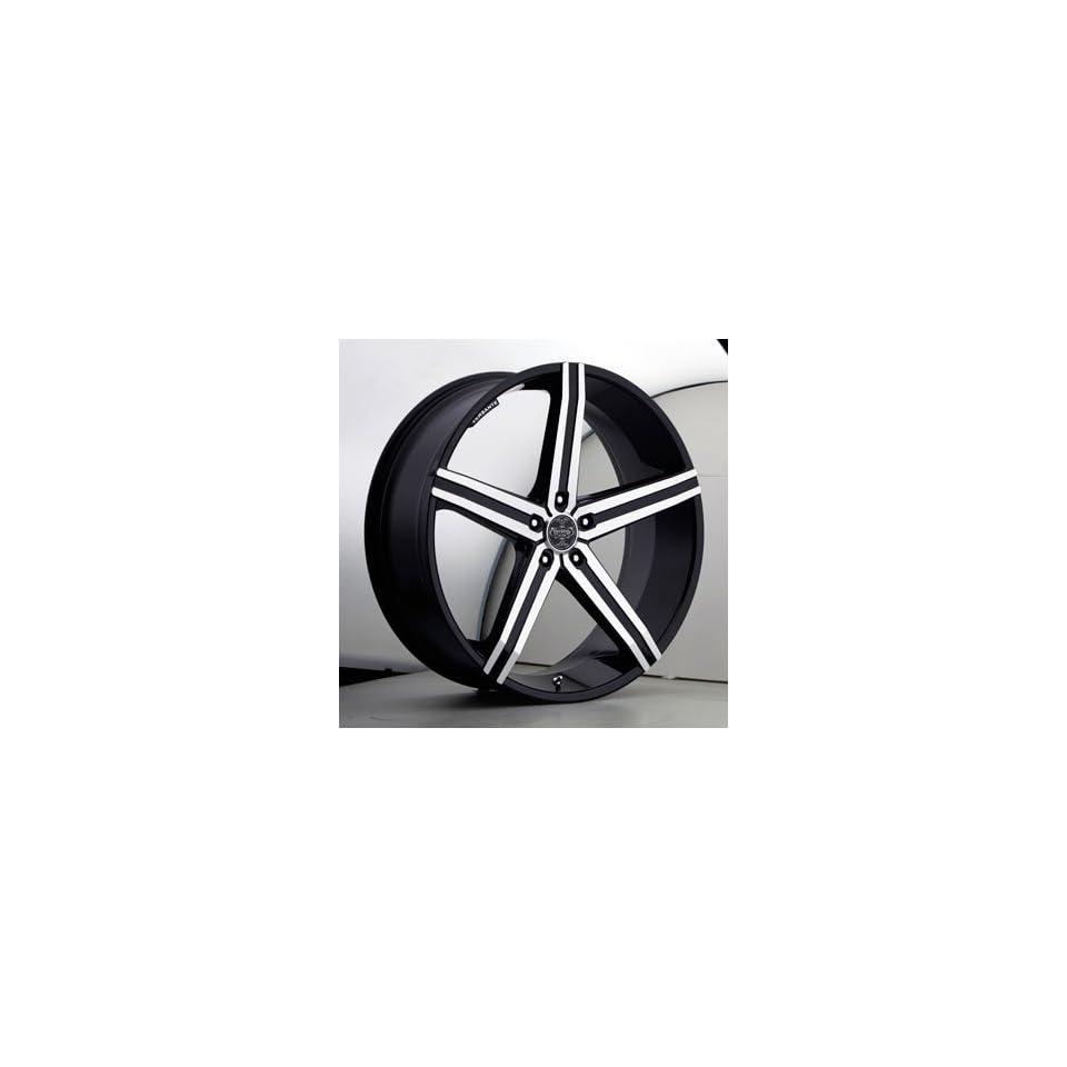 20 Wheels Rims Versante Ve228 Black Machined Face 5 Spoke 5x114.3 5x120 5x135 5x139.7