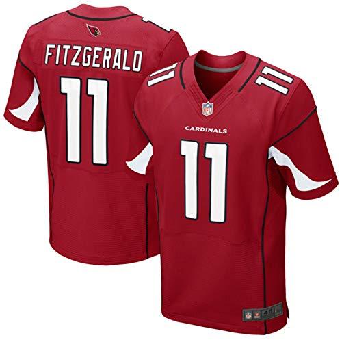 Mens Arizona Cardinals Larry Fitzgerald #11 Red Cardinal Elite Jersey (M)