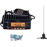 Radio and Accessory Bundle - 3 Items - Includes Yaesu FT-2980R 80W FM 2M Mobile Transceiver, MFJ-1728B 2m Mobile Mag-Mount Antenna and Ham Guides TM Quick Reference Card