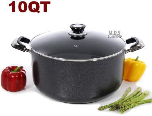 10Qt Non Stick Heavy Gauge Aluminum Dutch Oven Casserole Pot