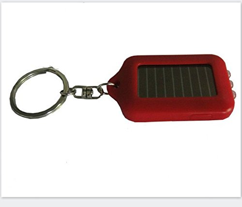 1.1 Mini Keychain (Wetietir Outdoor Mini Solar Power Flashlight Keychain Key Ring (Red))