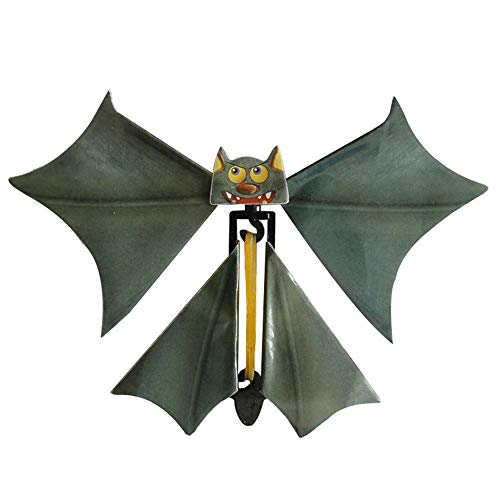 Livoty Halloween Magic Props Flying Bat Flutter Card Prank Flying Paper Bats Funny Halloween Card Toys Gift (Multicolor) -