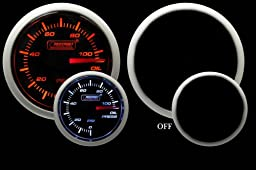 Oil Pressure Gauge- Electrical Amber/white Performance Series 52mm (2 1/16\
