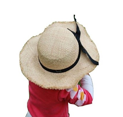 womens-girls-kids-large-wide-brim-straw-hat-sunhat-anti-uv-sun-protectin-straw-bucket-hat-bowknot-be