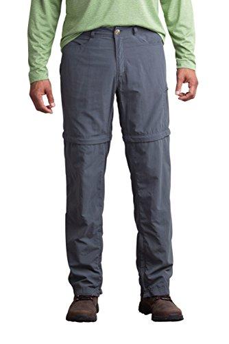 ExOfficio Men's BugsAway Sol Cool Ampario Convertible Pant, Dk Pebble, 34