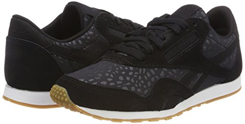 black Zapatillas De gum Lux Cl Reebok white Deporte Slim Nylon Mujer 000 Negro Para Txt w4PxTaq