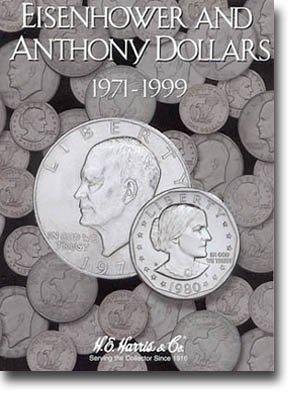 - HE Harris Coin Folder: Eisenhower/Susan B Anthony Dollars --NEW