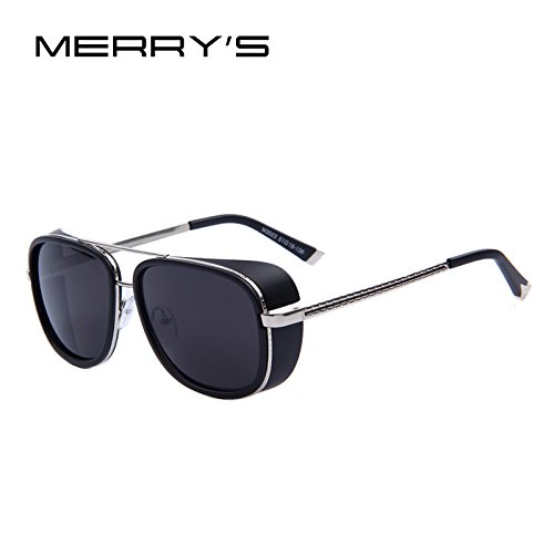 IRON MAN 3 Matsuda TONY Steampunk Sunglasses Men Mirrored Designer Brand Glasses Vintage Sun - Dior Flat Sunglasses Lens