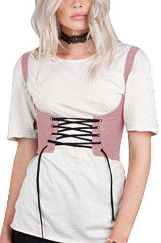 Waist Corset Body Shaper (Pink) - 5