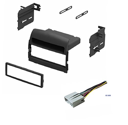 Car Stereo Install Dash Kit and Wire Harness for Installing an Aftermarket Single Din Radio for 2006 2007 2008 Hyundai Sonata