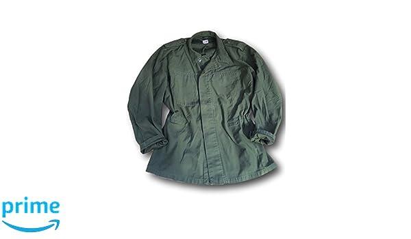 Camisa del ejército sueco M48, color liso verde oliva, camisa gruesa, Olive Green, X-Large